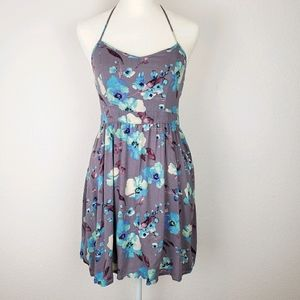 American Eagle Outfitters floral halter sun dress